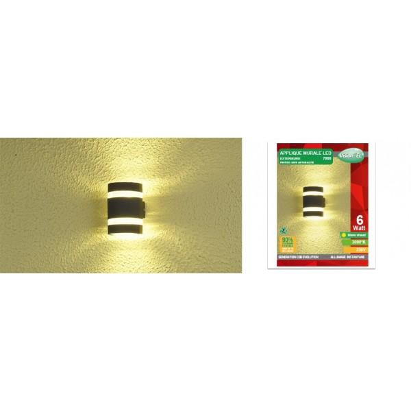 Applique murale led cob ext rieure 6w ip54 arrondi - Applique exterieure gris anthracite ...