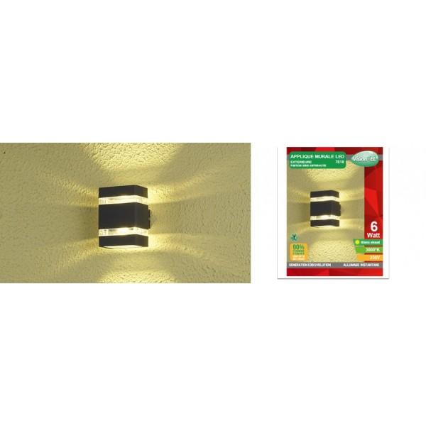 applique murale rectangulaire led cob ext rieure 6w ip54. Black Bedroom Furniture Sets. Home Design Ideas
